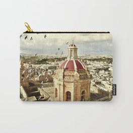An aerial shot of the Parish Church of Saint Catherine, Zejtun Malta Carry-All Pouch