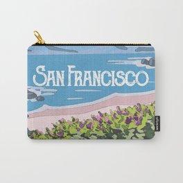 San Francisco, California Beach Succulents Illustration Carry-All Pouch
