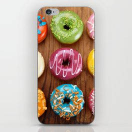 Colorful donuts iPhone Skin