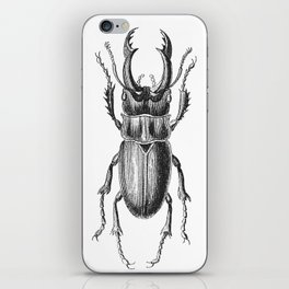 Vintage Beetle black and white iPhone Skin