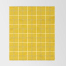 Sunshine Grid Throw Blanket
