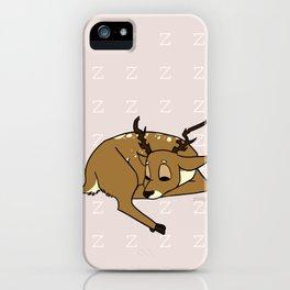 zzz - Sleeping Deer iPhone Case