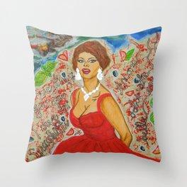 Ain't She A Dish, Sophia Loren! Throw Pillow