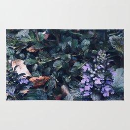 Proud Little Purple Flowers Rug
