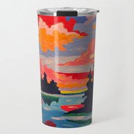 Northern Sunset Surreal Travel Mug