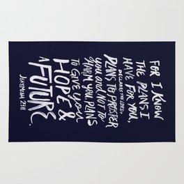 Jeremiah 29: 11 x Navy Rug