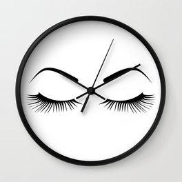 Closed Eyelashes (Both Eyes) Wall Clock