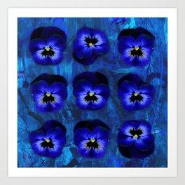 Deep Blue Velvet Art Print