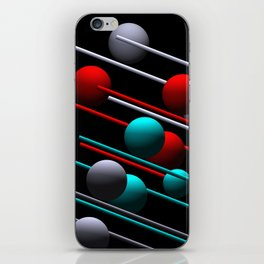 spheres and lines iPhone Skin