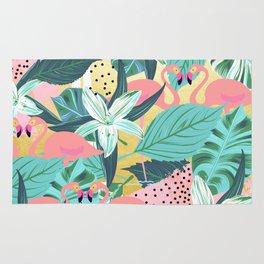 Flamingo Tropical #society6 #decor #buyart Rug