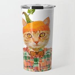 Orange Pumpkin Cat // Fall Decor Travel Mug