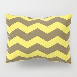 Chevron (yellow & brown) Pillow Sham