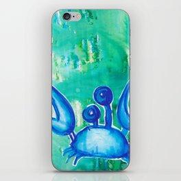 Blue Crab iPhone Skin