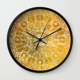 Rosette Window - Yellow Wall Clock