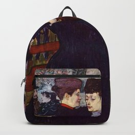 "Henri de Toulouse-Lautrec ""Two Woman Waltzing"" Backpack"