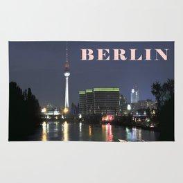 Night at river Spree in BERLIN Rug