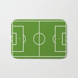 Football field fun design soccer field Bath Mat