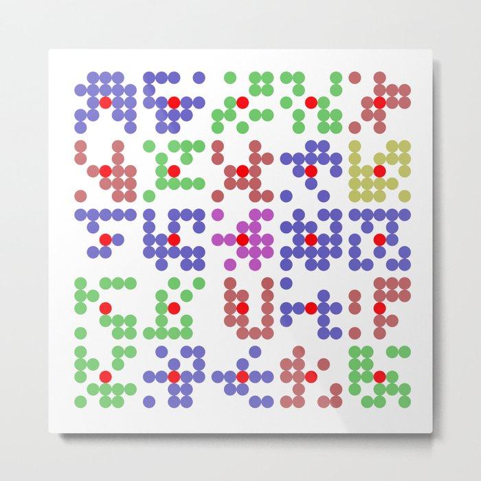 "Math Art Digital Print - ""bingo caRds"" Metal Print"