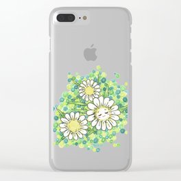 SWEET DAISY Clear iPhone Case