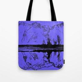 Knik River Mts. Pop Art - 1 Tote Bag
