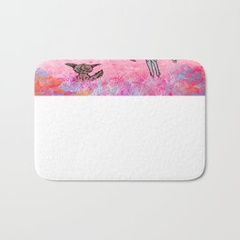 Little cat and the guy with ax, colors Bath Mat