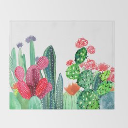 A Prickly Bunch 4 Throw Blanket
