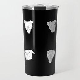 Black pit bull love Travel Mug
