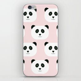 Panda Love -Pink iPhone Skin