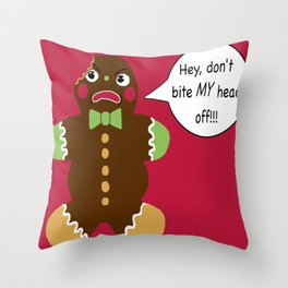 Gingerbread Cookie Angst Throw Pillow