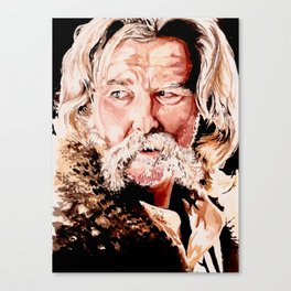 Kurt Russell Watercolor Portrait Canvas Print