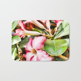An Adenium Flower Bath Mat
