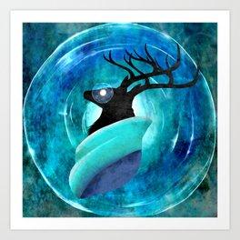 Ice God Art Print