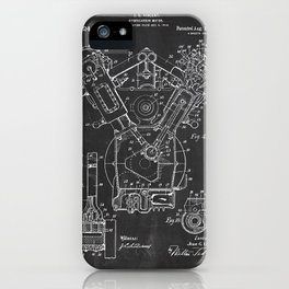 Patent combustion engine iPhone Case