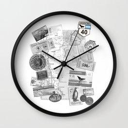 Patagonia - Map Wall Clock