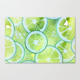 Lime Rings Canvas Print