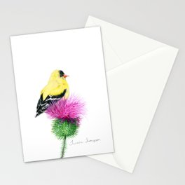 Little Goldfinch by Teresa Thompson Stationery Cards