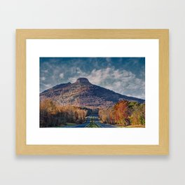 Pilot Mountain Framed Art Print