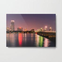 Harvard Bridge Metal Print