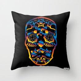 00  - COPERNICUS BLACK SKULL Throw Pillow