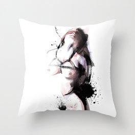 Shibari - Japanese BDSM Art Painting #3 Throw Pillow