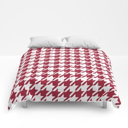 Bama crimson tide college state pattern print university of alabama varsity alumni gifts houndstooth Comforters