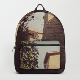 Italian classic town view Backpack