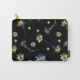 Carnations | Black Carry-All Pouch