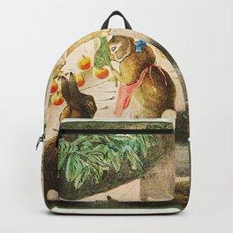 Beatrix Potter Christmas bunnies Backpack