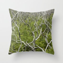 bushfire trees Throw Pillow