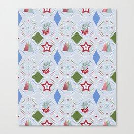 Christmas pattern. Canvas Print