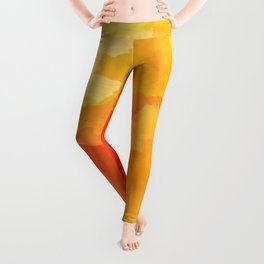 Colorful Abstract - red orange pattern Leggings