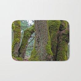 TWO BIG LEAF MAPLE TREES Bath Mat