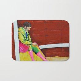 The Sad Bullfighter El Torero Triste Oleo Original sobre Lienzo Juan Manuel Rocha Kinkin Bath Mat