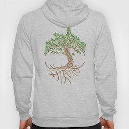 Rope Tree of Life. Rope Dojo 2017 white background Hoody